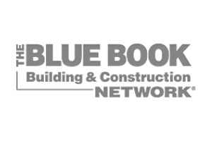 transparent logo of the blue book building and construction network