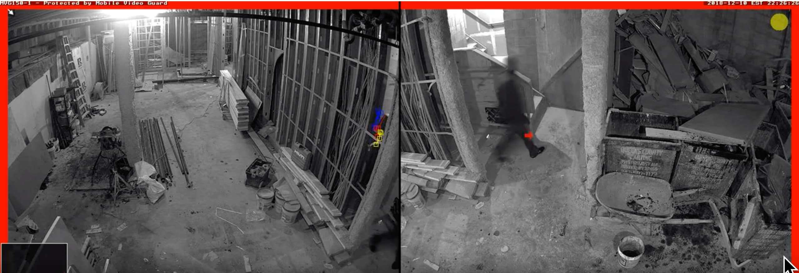 caught on mobile video guard security camera