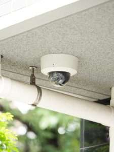 cctv video surveillance camera outside apartment building