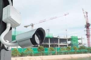 construction site security camera lense