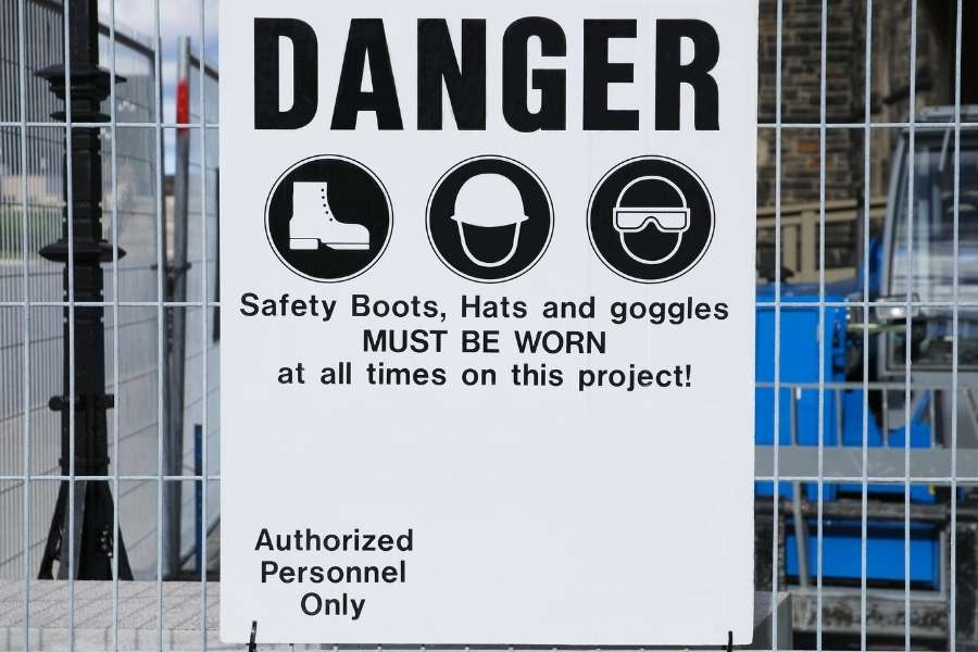 construction site security signs